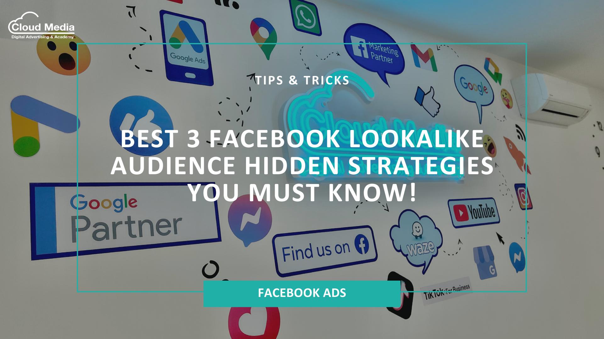 Best 3 Facebook Lookalike Audience Hidden Strategies You Must Know!